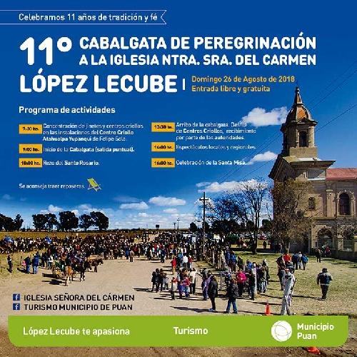 11º Cabalgata de Peregrinación a la iglesia de López Lecube.