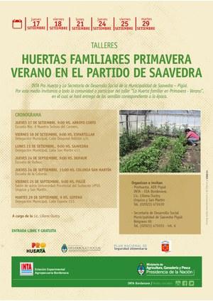 INTA: Talleres de Huertas Familiares en Colonia San Martin, Pigüé y  Goyena
