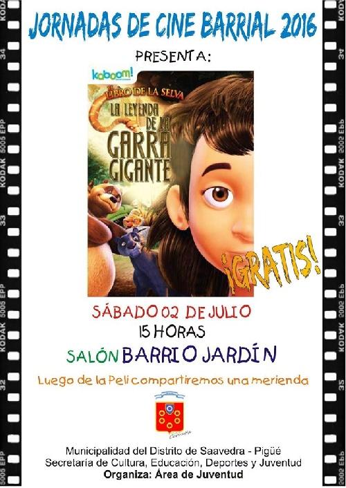 Cine y merienda en Barrio Jardín