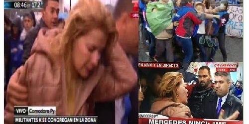 FOPEA repudió las agresiones de militantes kirchneristas contra la periodista Mercedes Ninci en Comodoro Py