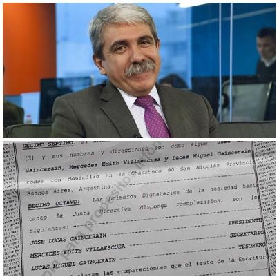 El ex jefe de Gabinete  Descubren una offshore de la mano derecha de Aníbal Fernández