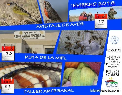 La Oficina de Turismo de Pigüé propone recorridos locales para el receso invernal