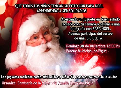 Foto con Papa Noel, sorteo y donaciones
