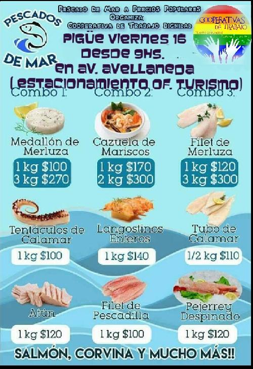 Feria de pescado de mar a precios populares