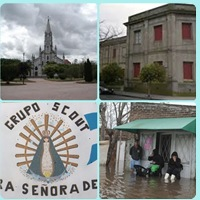 Campaña solidaria de la Parroquia Ntra Sra. De Lujan e instituciones de Pigüé en ayuda de las familias afectadas por la inundación en Luján