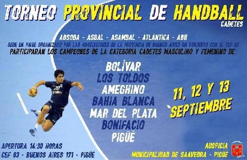 Torneo provincial de handball cadetes