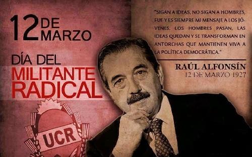 Pigüé: Convocatoria Radical para Homenaje a Raul Alfonsin