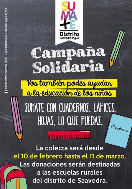 Campaña de donación de utiles escolares