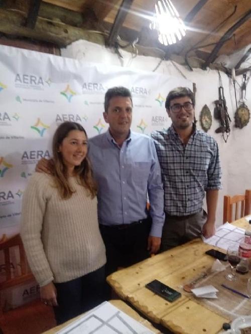 El concejal Nebot con Sergio Masa en Villarino