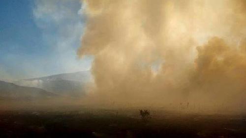 Incendios en la sierras de Saavedra: continúa el estado crítico