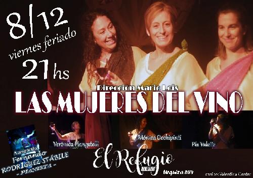 """Teatro piguense: """"Las mujeres del vino"""" en El Refugio"""