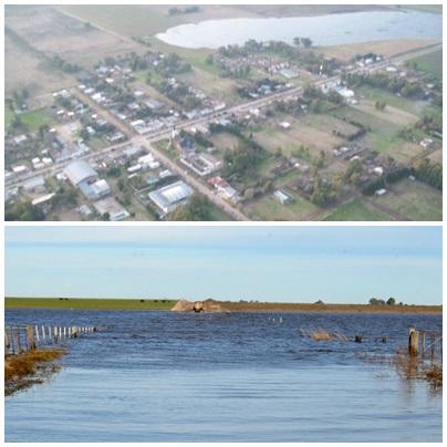 San Miguel Arcángel: la Provincia envia técnicos para evaluar la grave situación por la inundación
