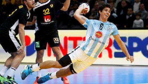 Dura derrota de Argentina ante Suecia por el mundial de balonmano.