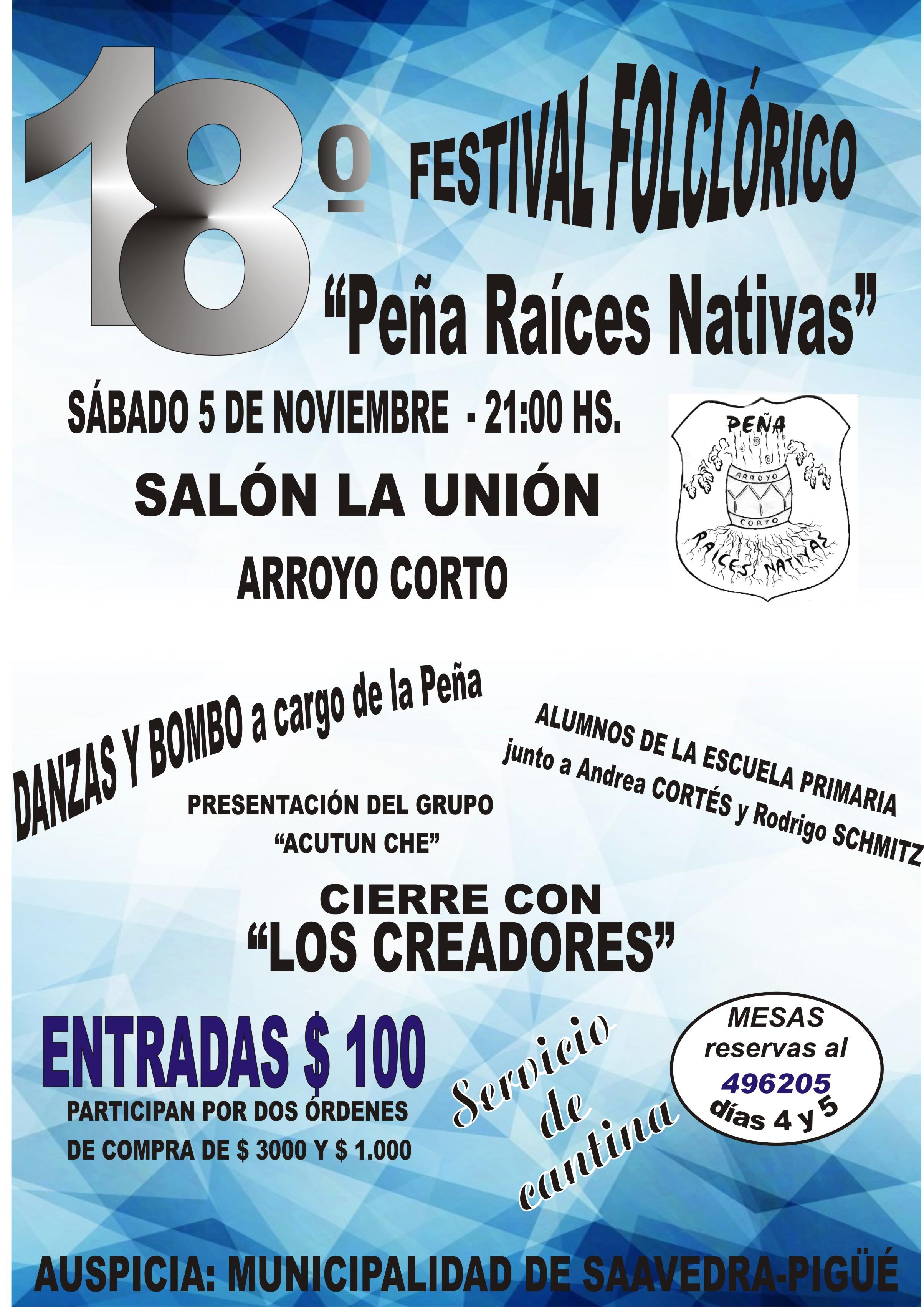 Festival Folclórico de la Peña Raices Nativas en Arroyo Corto