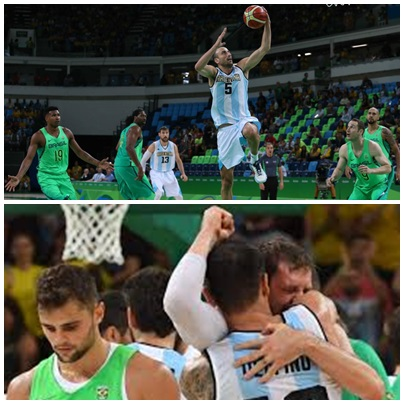 Río 2016-básquet. Agónico triunfo de Argentina ante Brasil por 111-107 y ahora los cuartos de final
