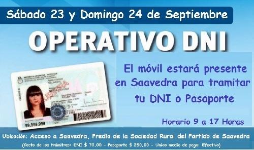 LA UNIDAD ITINERANTE DEL REGISTRO NACIONAL DE LAS PERSONAS EN SAAVEDRA