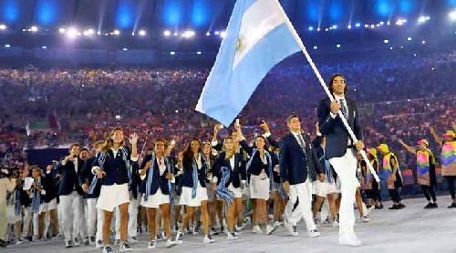 Emoción y alegría de los deportistas argentinos en el desfile de la inauguración de los Juegos olímpicos Rio de Janeiro 2016