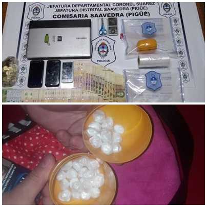 Pigüé: secuestraron cocaína y detuvieron a una mujer