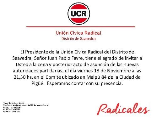 Pigüé: Asumen las nuevas autoridades radicales del Distrito