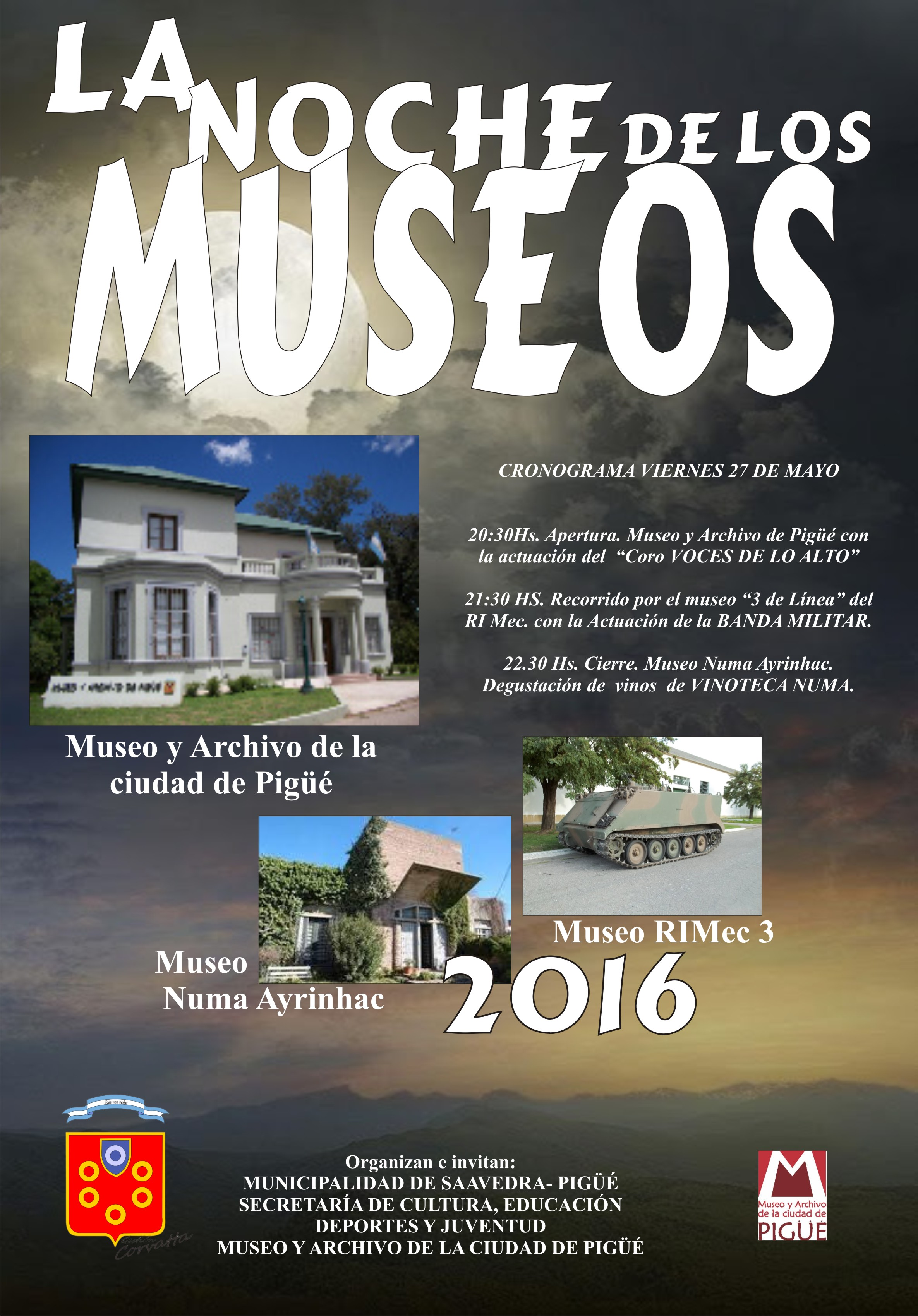 La Noche de los Museos en Pigüé