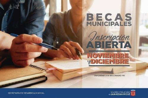 Inscripción para becas municipales