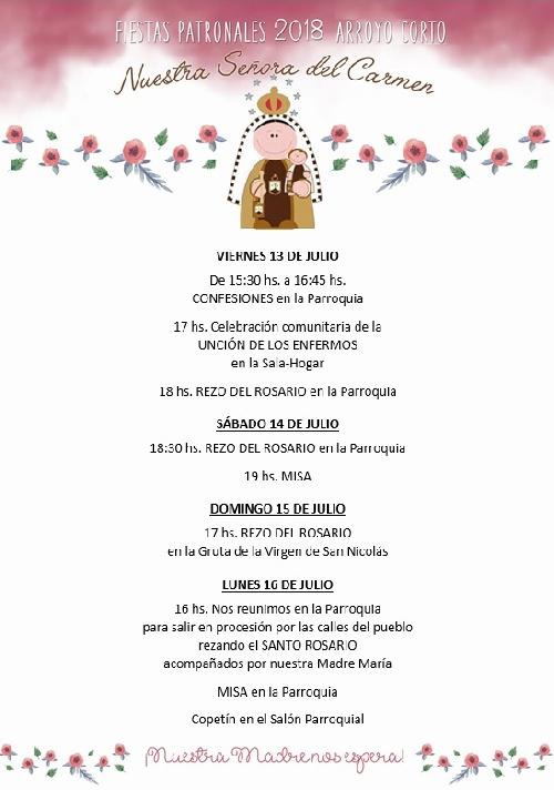 Arroyo Corto:  Fiestas Patronales