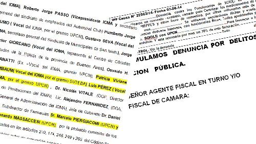 IOMA: los negociados con la industria farmacéutica que salpican a los sindicalistas docentes Quintana y Baradel