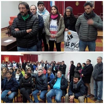 Pigüé: La intersindical local y Coop. Textiles expresaron su enfrentamiento total con las politicas del gobierno de Cambiemos Nacional y Bonaerense