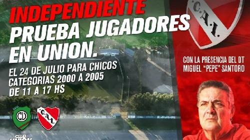 Independiente de Avellaneda probará jugadores de la región en Tornquist.