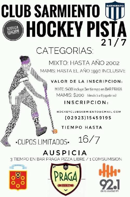 Club Sarmiento organiza torneo de Hockey en pista.