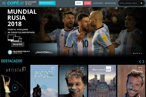 """El Gobierno lanzó Cont.ar, el """"Netflix"""" gratuito con contenidos nacionales y por donde se podrá ver el mundial"""