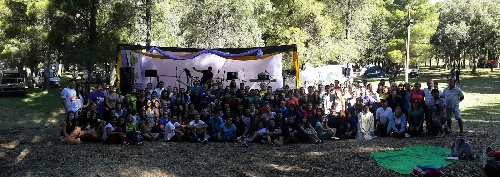"""Octava Acampada Juvenil en la Ermita  """"Nuestra Señora de Luján de la Sierra""""  de Saavedra."""