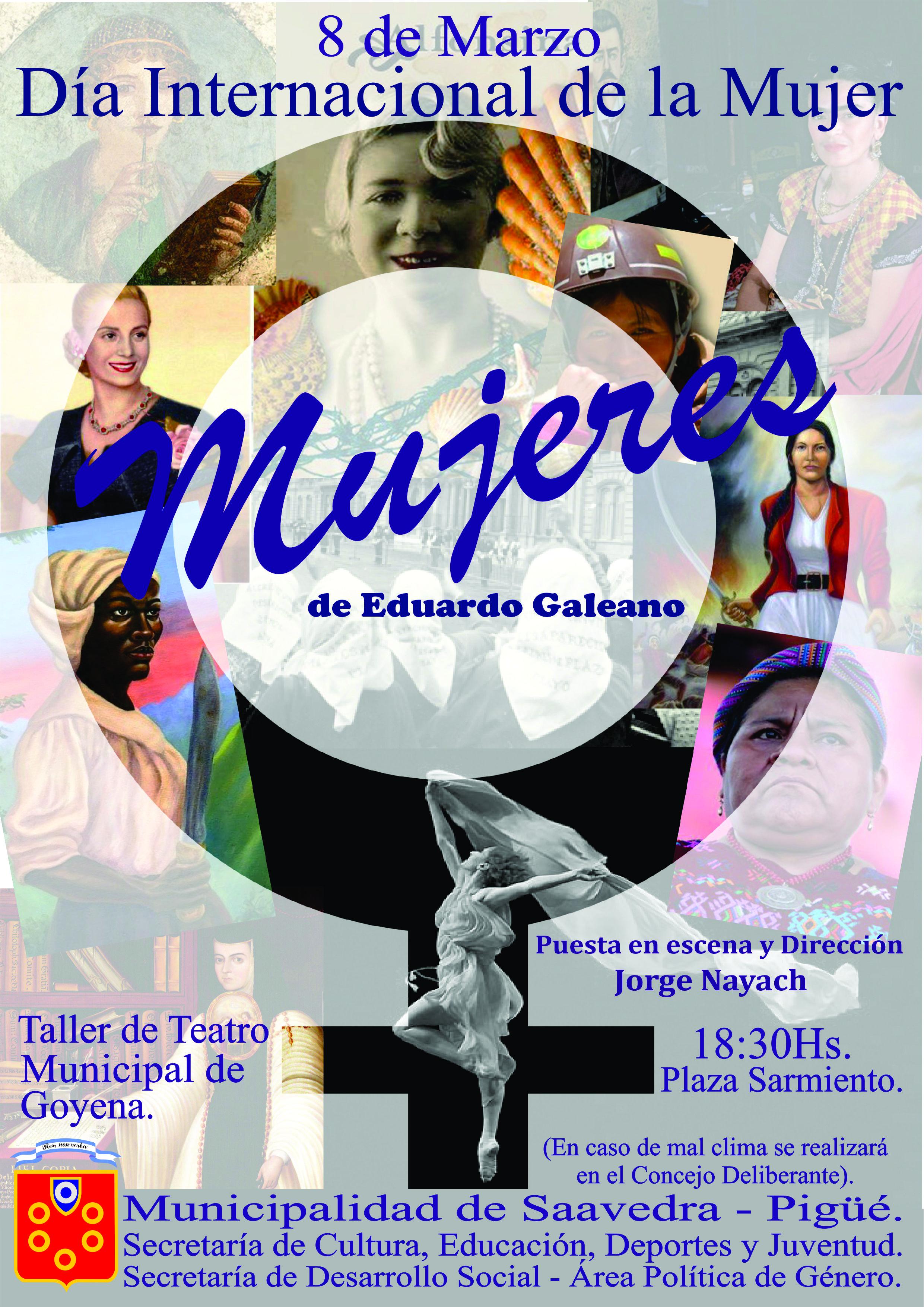 Teatro en la plaza para el dia de la mujer en Pigüé