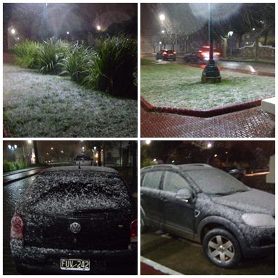 Y nevó ( un poquito ) en Pigüé