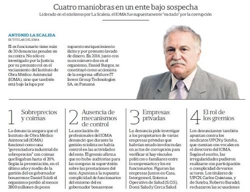 """Denuncian millonario fraude """"sistemático"""" en el IOMA durante el gobierno de Daniel Scioli"""