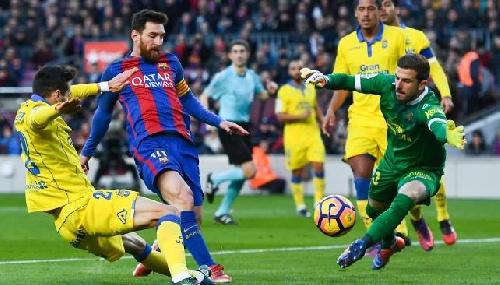 Con un gol de Messi, Barcelona goleó a Las Palmas por la Liga Española.