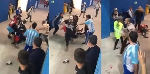 Vergüenza mundial, malos perdedores y violentos: hinchas argentinos golpearon a dos simpatizantes croatas