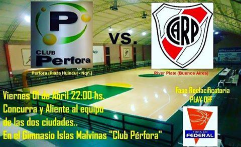 Torneo Federal de Basquet - River Plate está viajando esta noche hacia Plaza Huincul para jugar Play Off