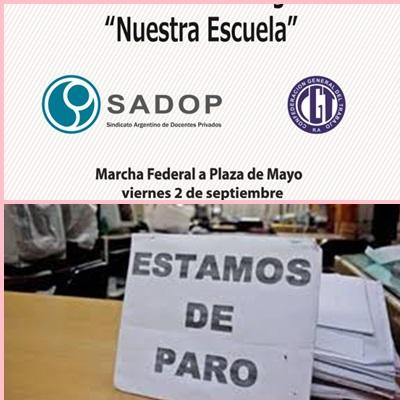SADOP convoca a paro docente para éste viernes (02-09-16)