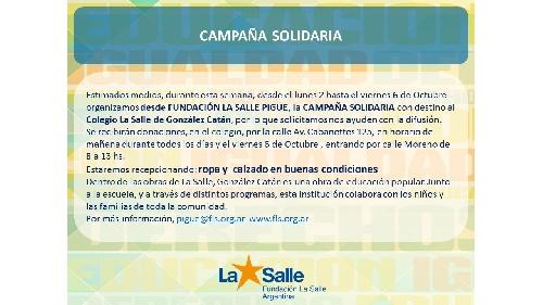 Campaña solidaria de la Fundación La Salle