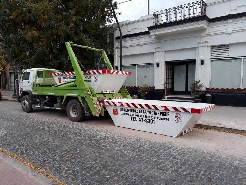 Volquetes para escombros de obras en Pigüé