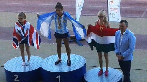 Juliana Crededio, flamante campeona de Atletismo de los Juegos Mundiales de Trasplantados de España