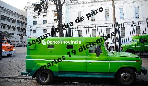Empleados del Banco Provincia  de Buenos Aires continúan éste martes 19 con la segunda jornada de paro