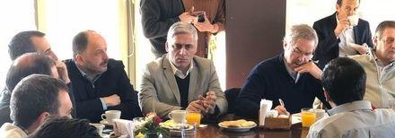 Garate con diputados nacionales del Frente Renovador en Mendoza