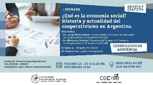 UPSO sede Pigüé: Jornada sobre historia y actualidad del cooperativismo argentino