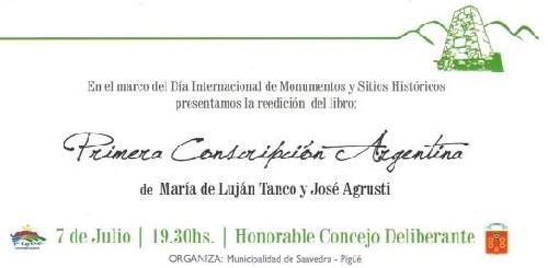 Reedición literaria sobre la Primera Conscripción Argentina de M. Luján Tanco y Jose Agrusti