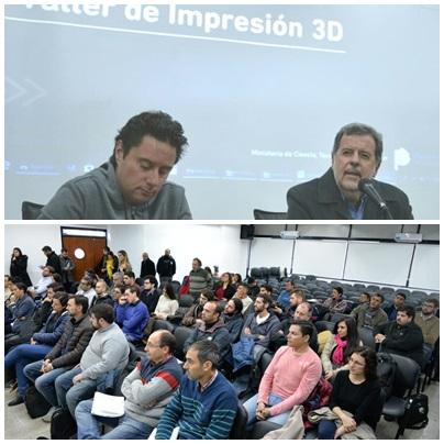 Pigüé presente con Mtro Tecnología Elustondo y Mtro Educacion Sánchez Zinn  en inicio de Autopista de Formación Tecnológica