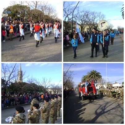 Pigüé conmemoró el Bicentenario con un desfile engalanado por la presencia del pueblo