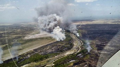 Incendios, Villarino: levantan parcialmente el corte de la ruta 22