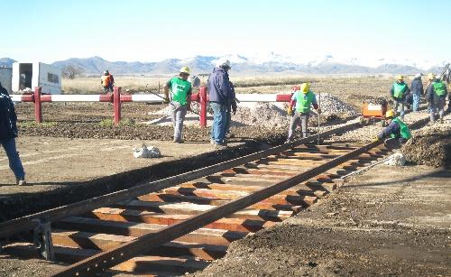Alerta Vial:  Circular con máxima precaución en  RN33  Km 114 - acceso a Goyena,  por trabajos en cruce ferroviario
